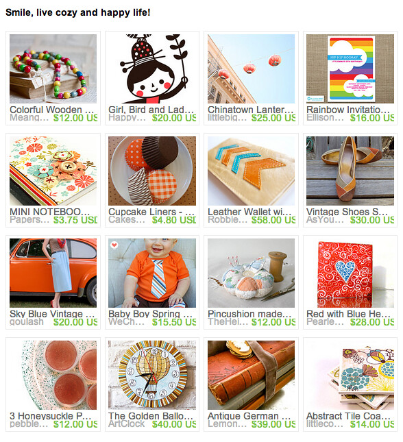 Etsy Treasury : Smile, live cozy and happy life
