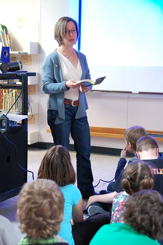 Caroline Adderson at G.W. Carlson Elementary in Fort Nelson