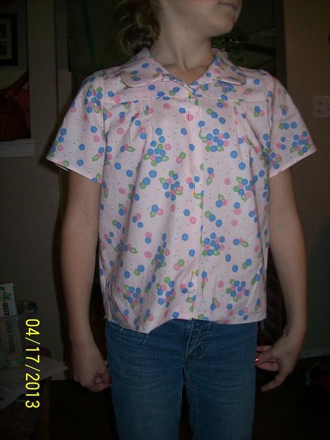 Music Class blouse--too short?