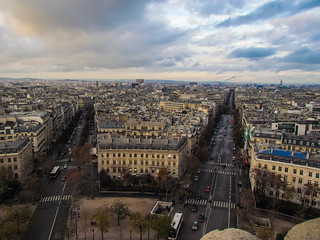 Paris - as seen from top of Arc De Triomphe