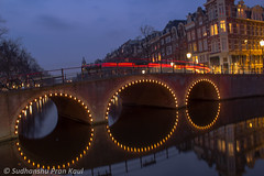 Amsterdam Canals in Night