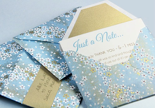 Custom Envelopes from Patterned Paper