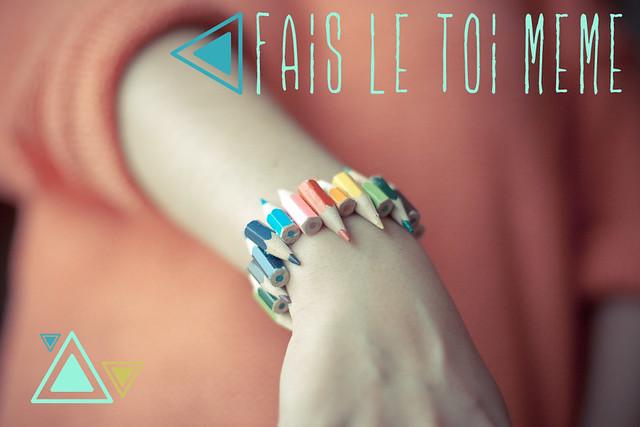 Bracelet crayons - Fais-le toi même le blog