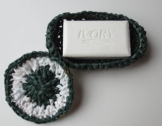 Crocheted Plarn Soap Dish