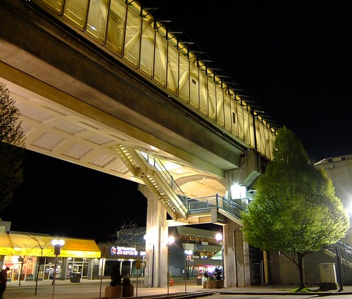 King George Skytrain at night