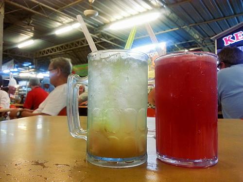 Lychee juice, watermelon juice