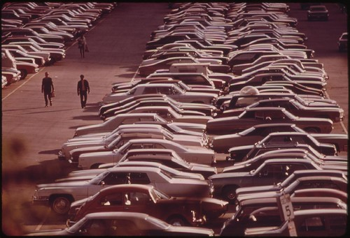 Monroe Street parking lot in Chicago, 1973