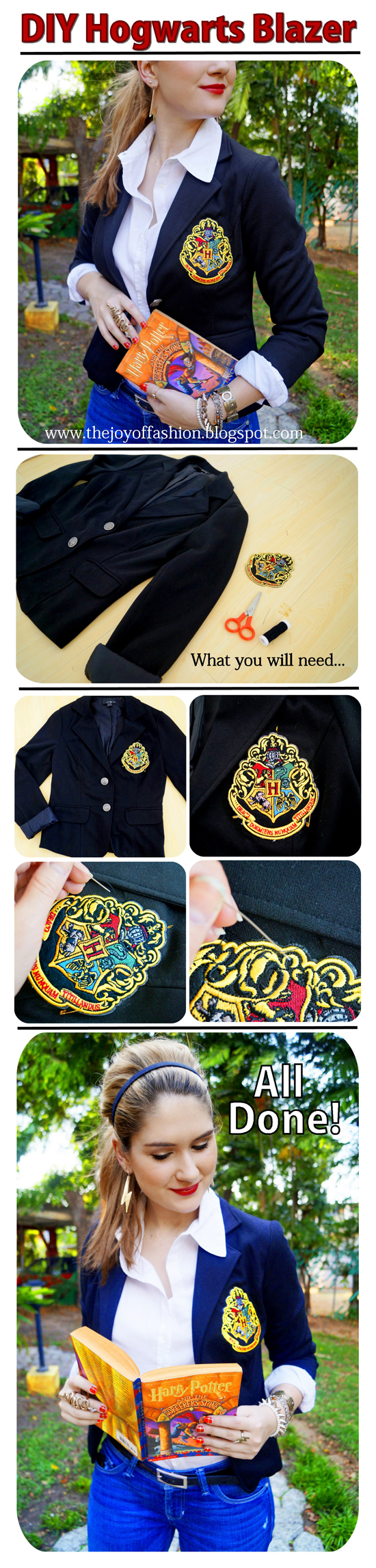 DIY Harry Potter Hogwarts Blazer