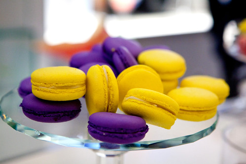 Creme de Cassis and Limoncello macarons by Vendôme