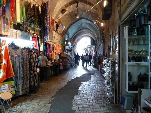 Shops in Muslim Quarter (Jerusalem, Israël 2013)