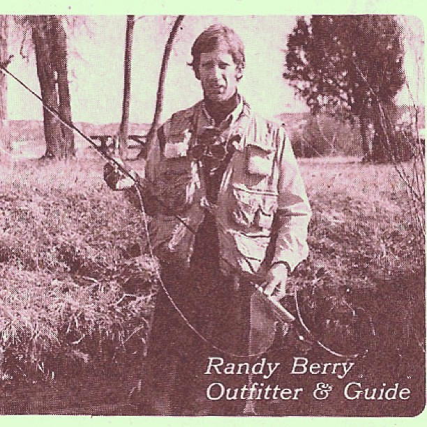 Throwback Thursday. Randy  in an ad from 1978 for a fly rod he manufactured.