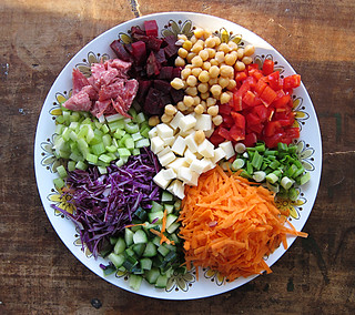 chopped salad platter