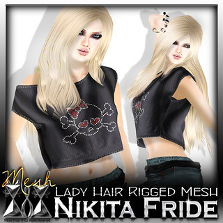 Lady Hair Rigged Mesh