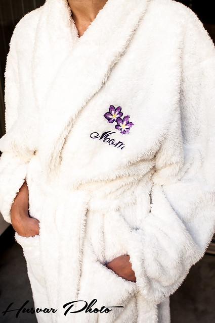 chenille mom robe