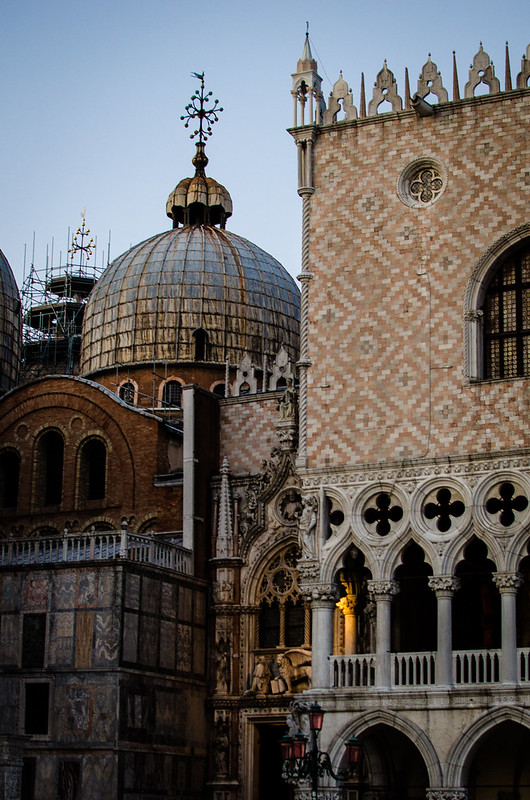 Layers of Venetian history seen through the architecture of St. Mark's Square.