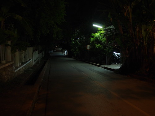 dark road near Villa Maly