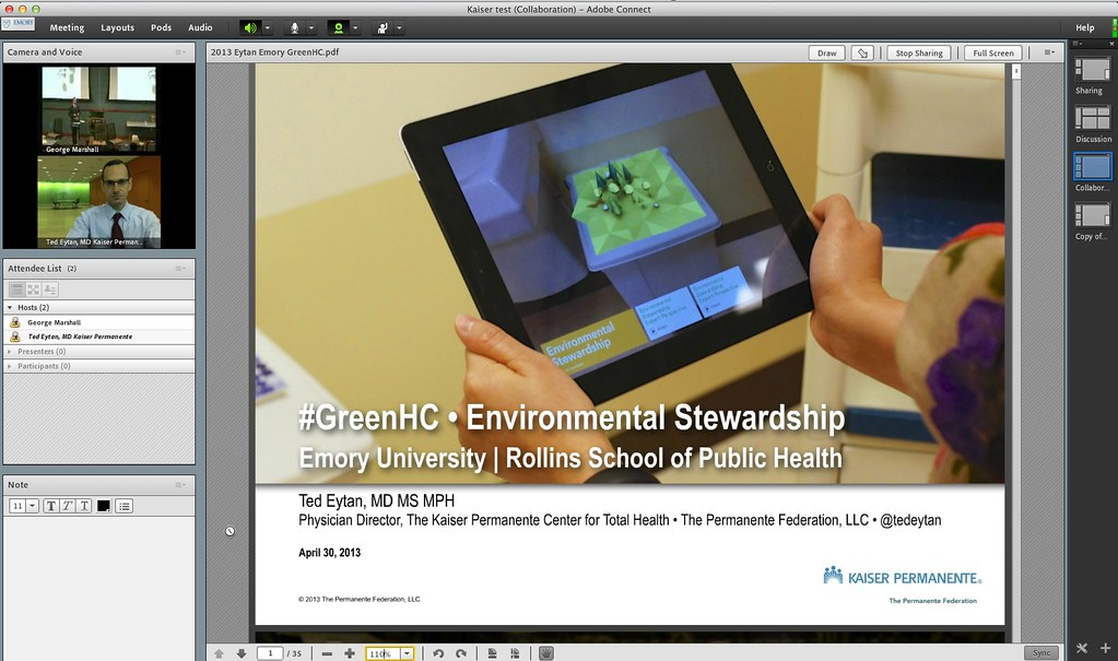 Presentation: #GreenHC - Environmental Stewardship in Health Care