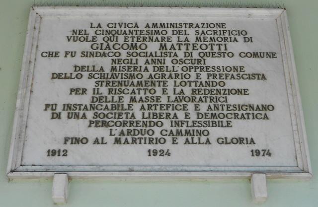 Giacomo Matteotti sindaco di Villamarzana