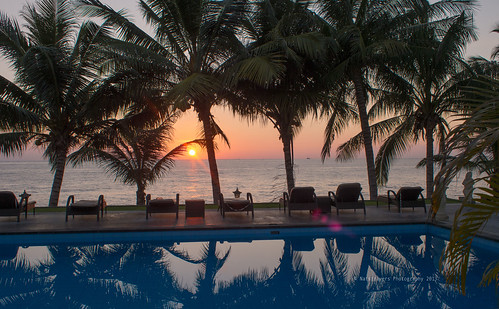 sunrise at Puri Madha Beach Bungalow by Nathalie Stravers