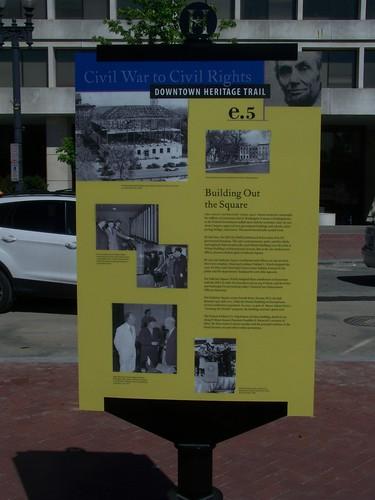 History trail marker, Judiciary Square