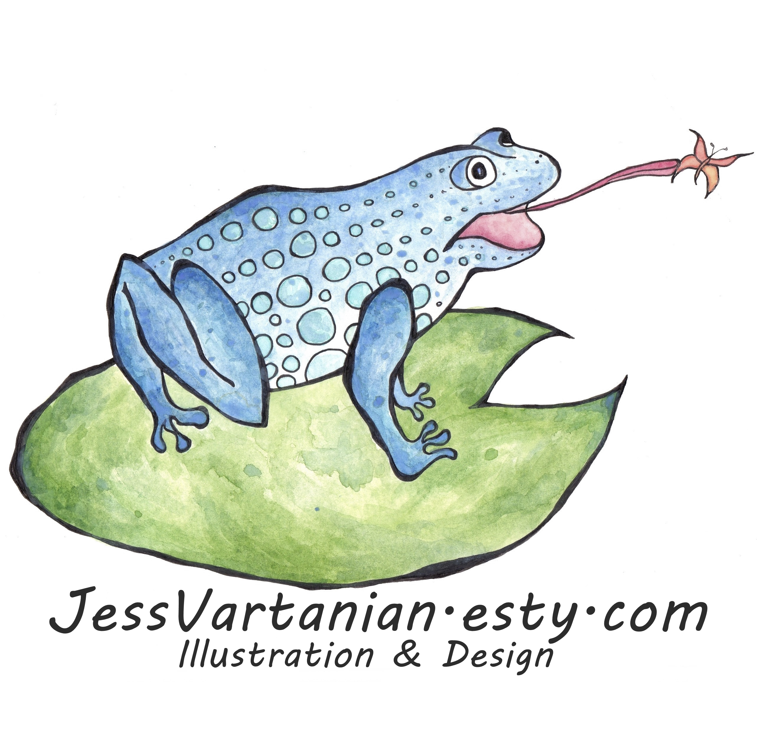 watercolor frog Ad Square