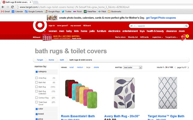 Target.com Bath Rugs