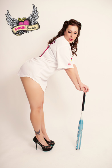 Baseball Themed Boudoir Pinup Photographer