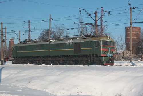 Ukrainian Railways class ВЛ8 electric locomotive ВЛ8-576 at Іловайськ (Ilovaisk)
