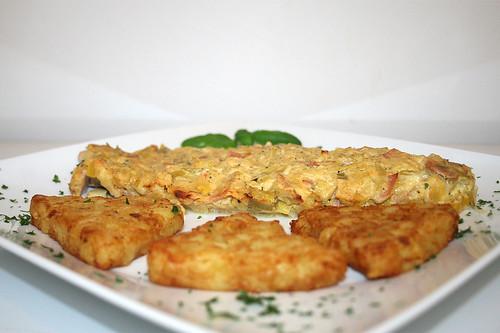 37 - Lauch-Fischkäse-Schnitzel - Seitenansicht / Leek cream cheese schnitzel - side view