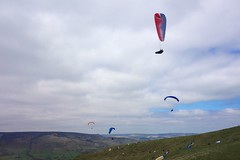 Paragliding on Mam Tor.