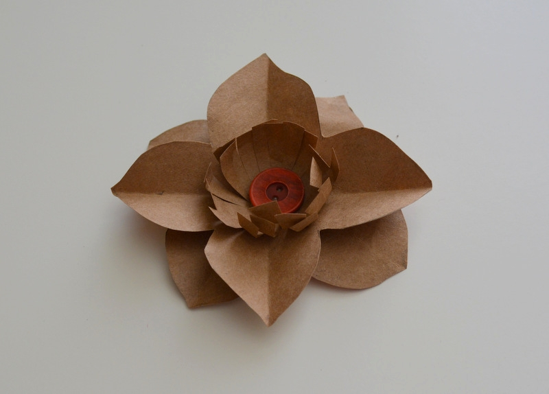 Upcycled Paper Flower