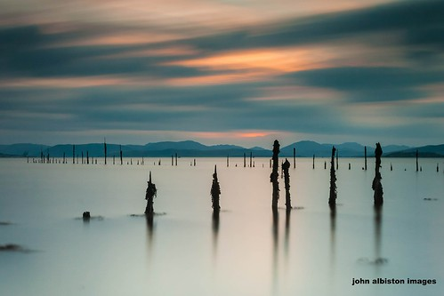 longexposure sunset sea seaweed abandoned clouds scotland clyde seaside maritime derelict dereliction timberponds clydetimberponds