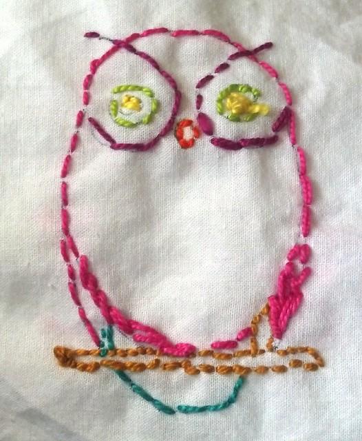 Lavella's owl embroidery