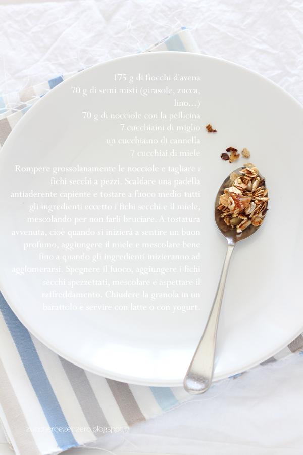 Granola ai fichi e cannella
