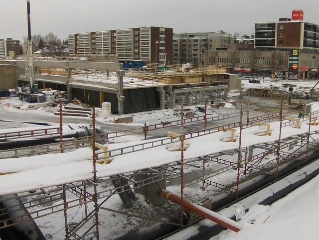 Hämeenlinnan moottoritiekate ja Goodman-kauppakeskus: Työmaatilanne 13.1.2013 - kuva 10