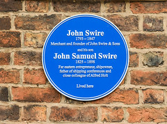 Photo of John Swire and John Samuel Swire blue plaque