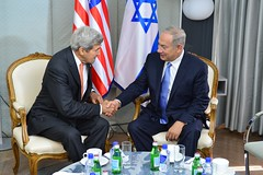 U.S. Secretary of Sate John Kerry meets with Israeli Prime Minister Netanyahu at the London New York Hotel in New York City, New York on September 23, 2016. [State Department Photo/Public Domain]