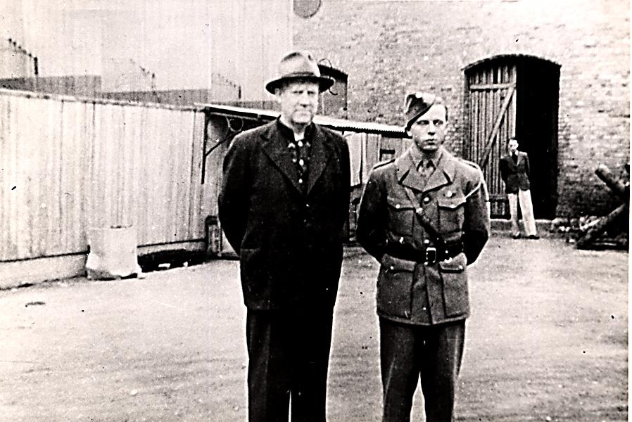 Vidkun Quisling i arrest på Akershus festning, 1945.