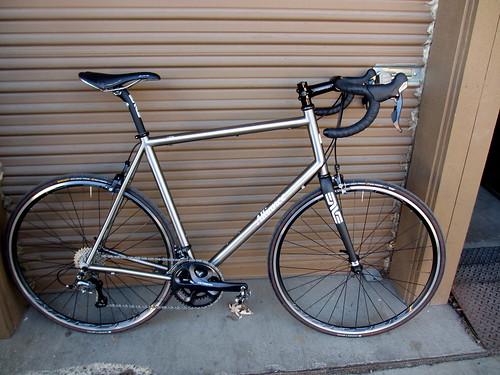 Dan's big titanium bike