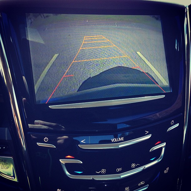 Cadillac ATS backup camera. Guidelines turn w/ wheel. http://disclosur.es/9ROsJA