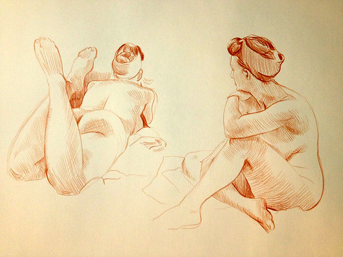 life drawing at University of Denver