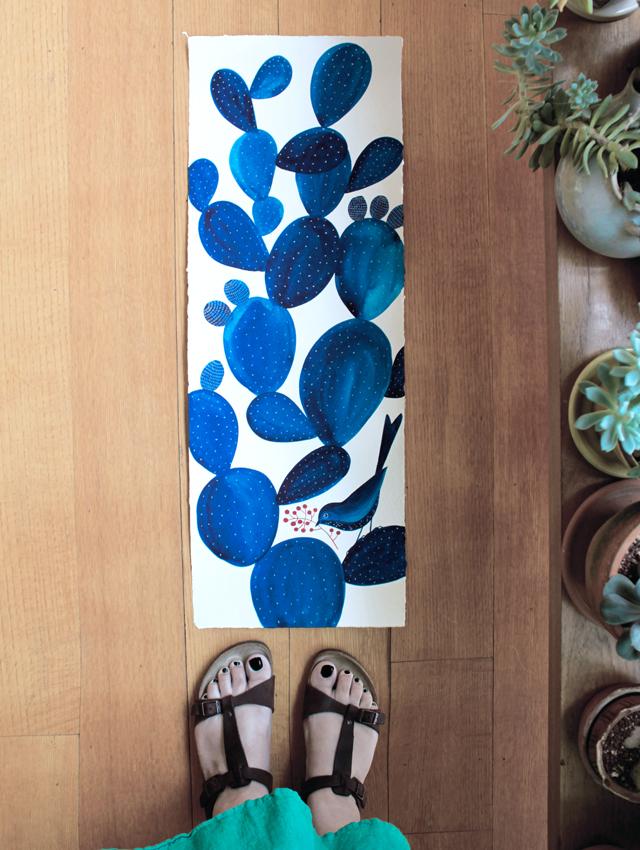 Blue Opuntia