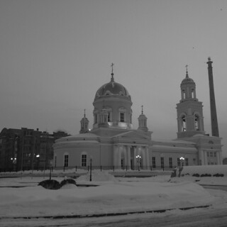Evening. Svyato-Troitsky Cathedral