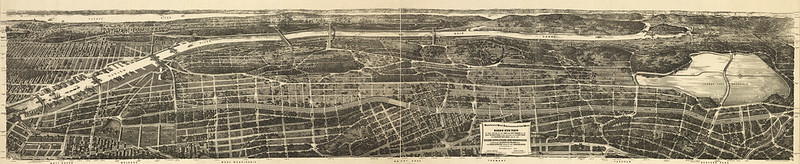 1897 Map of New York City, inc South Bronx