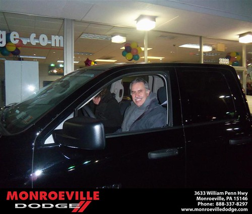 Monroeville Dodge would like to say Congratulations to Bryon Turi on the 2012 Dodge Ram by Monroeville Dodge