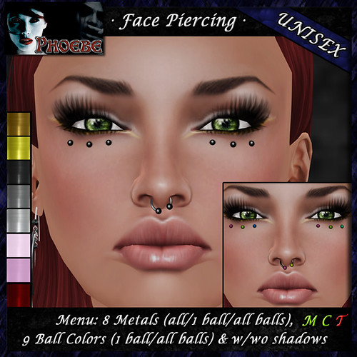 *P* Unisex Face Piercing B2 ~8 Metals-9 Colors~