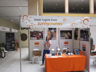 Marketing Assistant, Claire with an S2 solar light