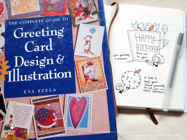 Complete Guide to Greeting Card Design & Illustration and my merry sketch