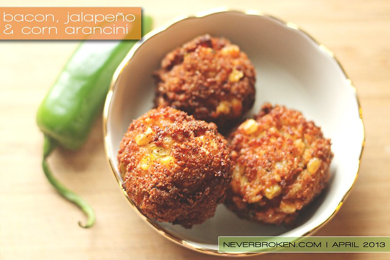 ... , Jalapeño and Corn Arancini (Gluten Free & Stuffed with Cheese
