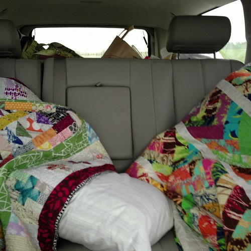 104:365 Road trip quilt naps. Headed back to TX with @safieh @houseofbadcats @jaceynotjc #thestashbash